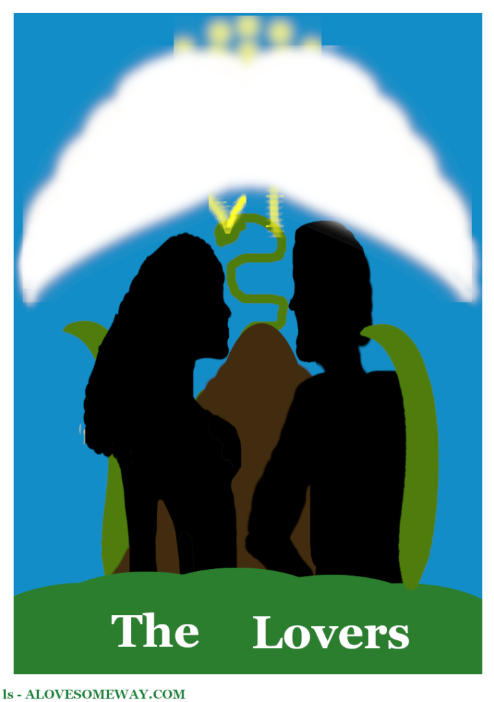 should show The Lovers Tarot Card