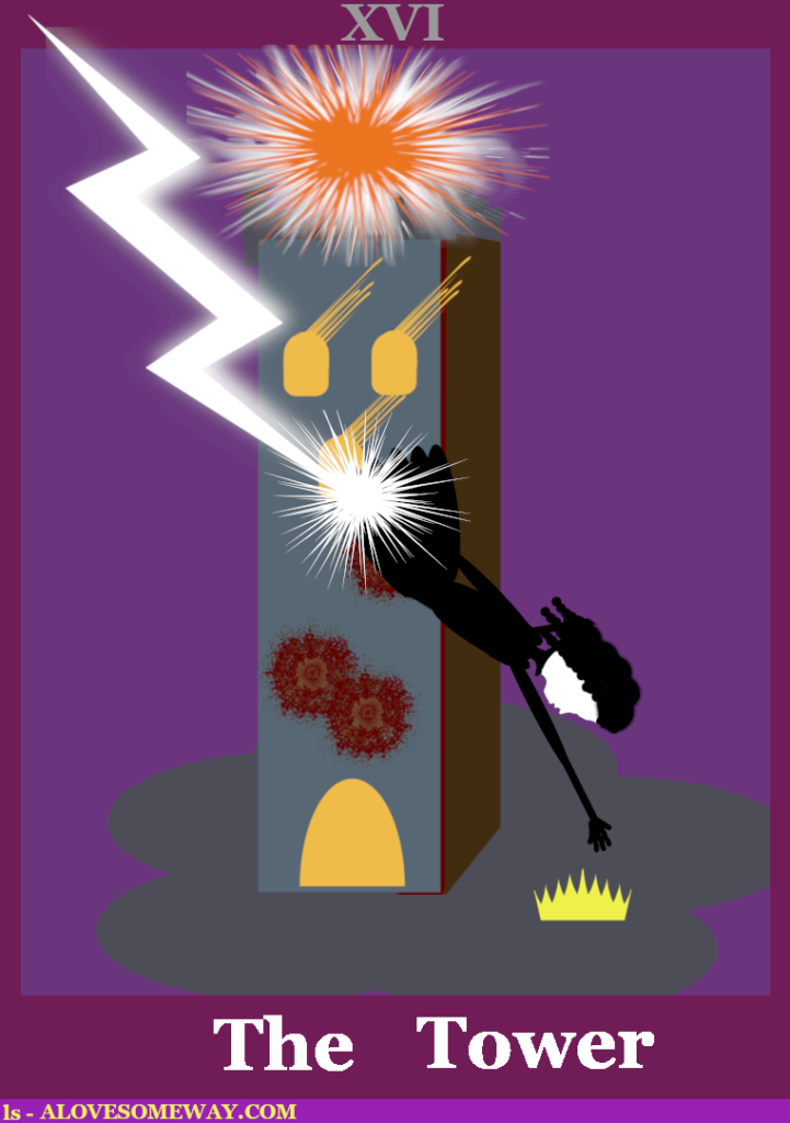 An image of the Tarot card The Tower