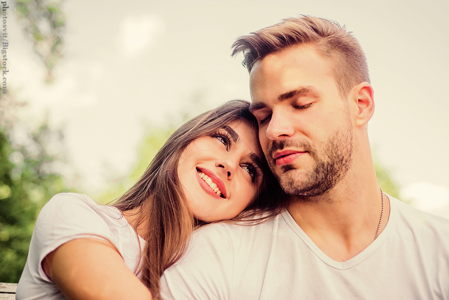 Twin Flame Love: Playful couple in love. Hugging eachother. Tender feeling.