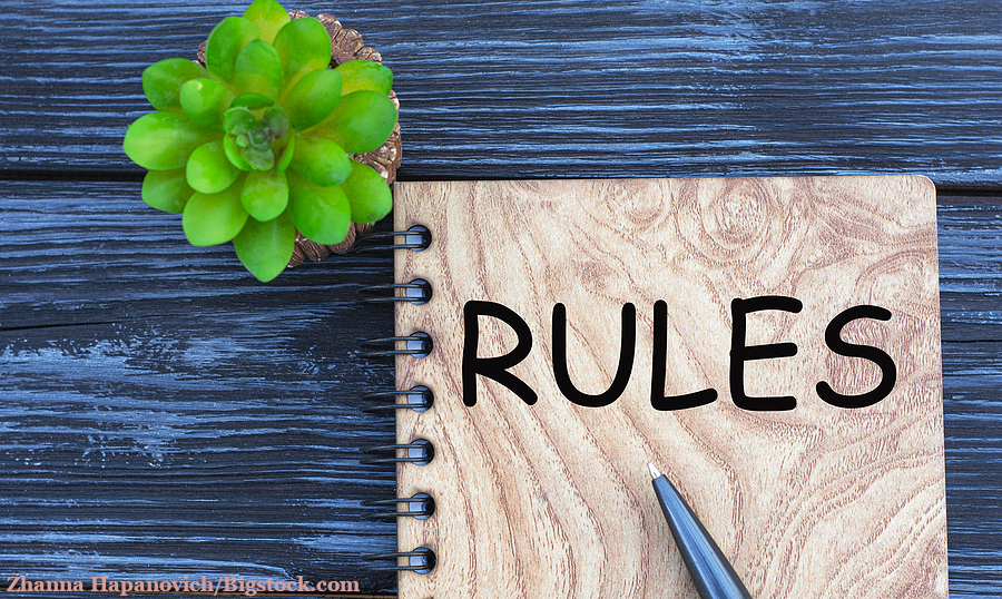The image symbolizes the 3-month rule: A notebook for writing down rules.